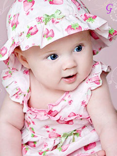Cute Babies Pictures With Love Quotes Wallpapers With Pink Dress