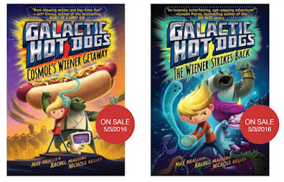Galactic Hot Dogs Book 1 and Book 2 covers
