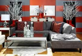 sala color rojo gris