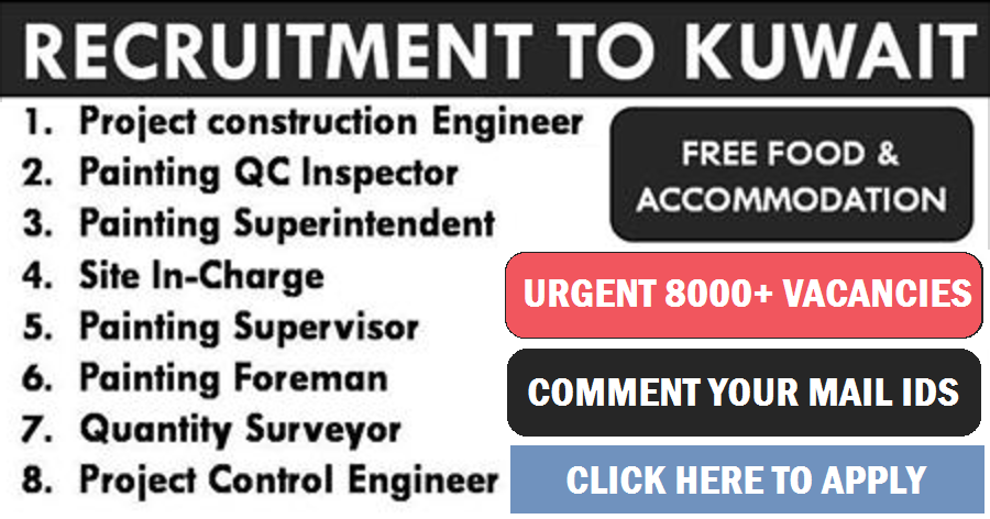 URGENTLY REQUIRED FOR A REPUTED COMPANY IN KUWAIT | All Gulf Vacancy