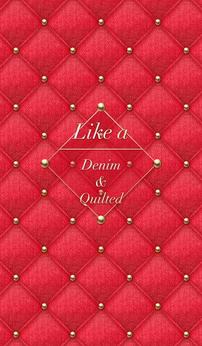 Like a - Denim & Quilted *Red