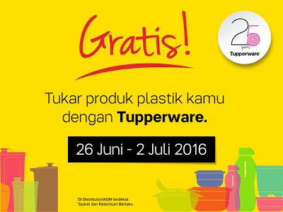 Tupperware Gratisan Dengan Menukar Plastik Non Tupperware