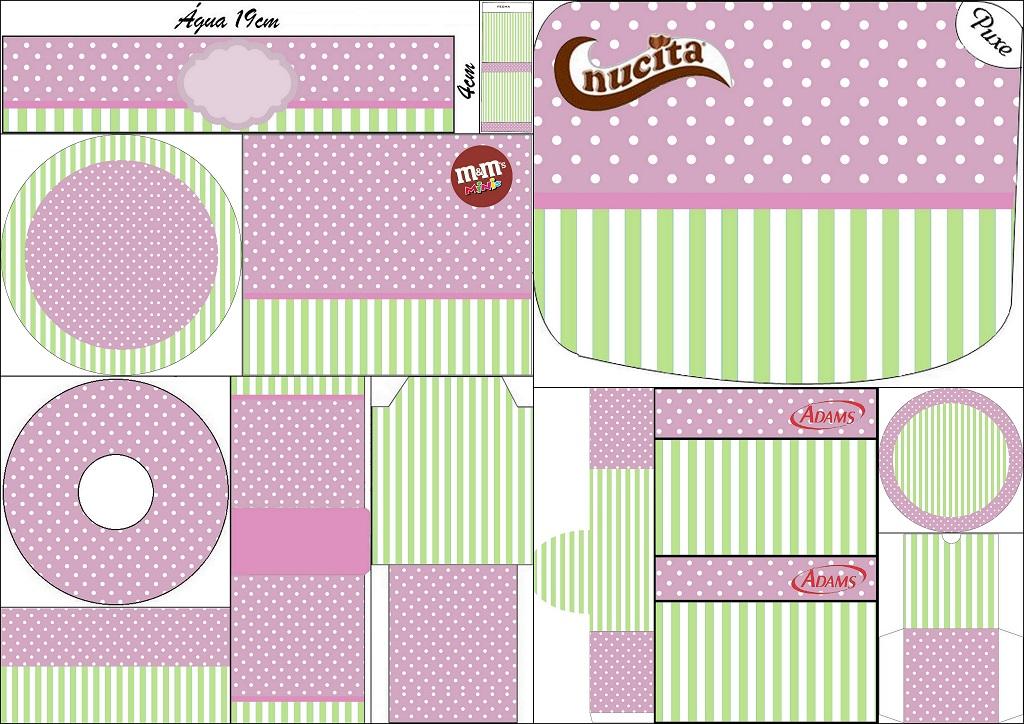 d80fb050afd Morado Y Verde Menta: Invitaciones Para Imprimir Gratis · Invitación  Plátano Changuita Rosa Y Verde Por Fiestaprint: Morado Y Verde Menta:  Etiquetas Candy