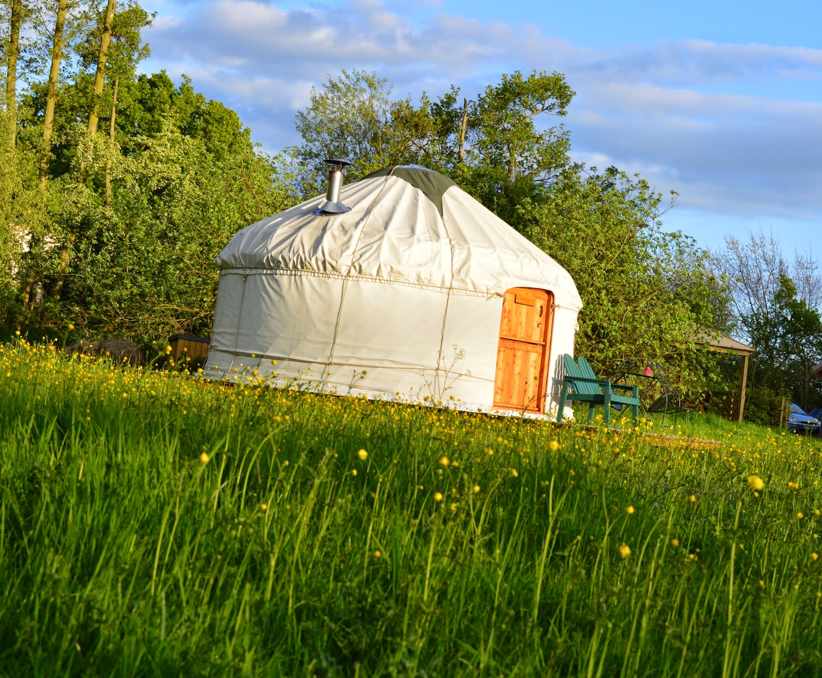 Acorn glade glamping in Yorkshire - poppy yurt