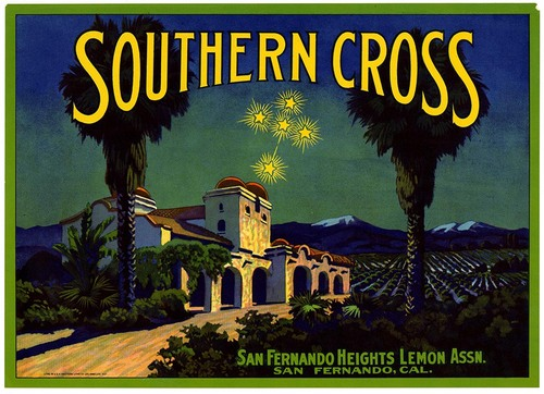 Southern Cross fruit crate label from California Historical Society on Flickr Commons