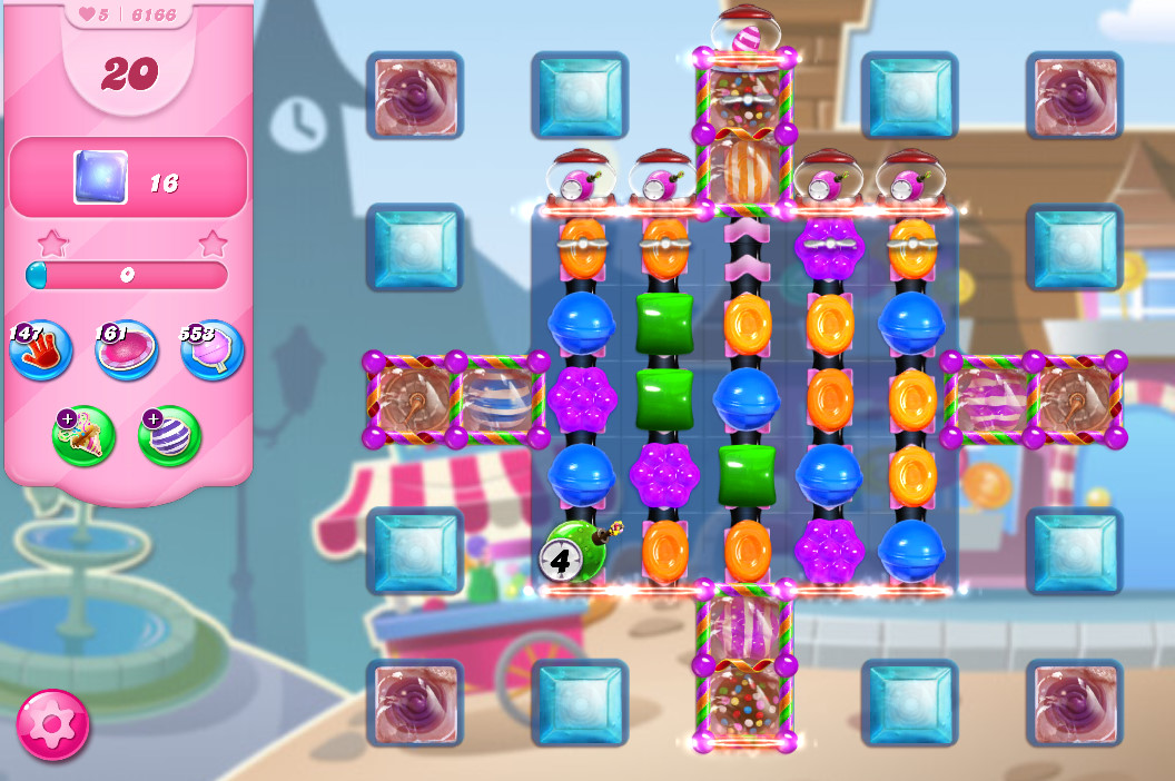 Candy Crush Saga level 6166