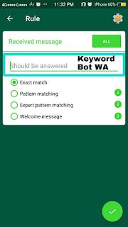 bot whatsapp - isi keyword