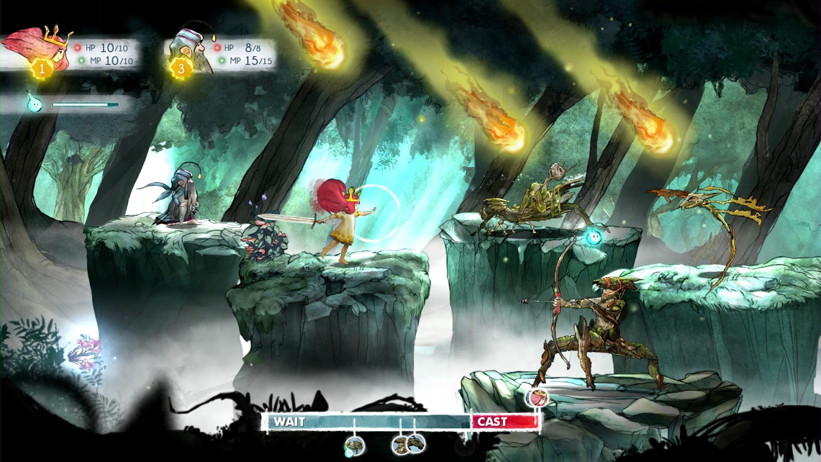 Child of light inimigos