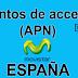 APN de las operadoras de España actualizadas al 2016