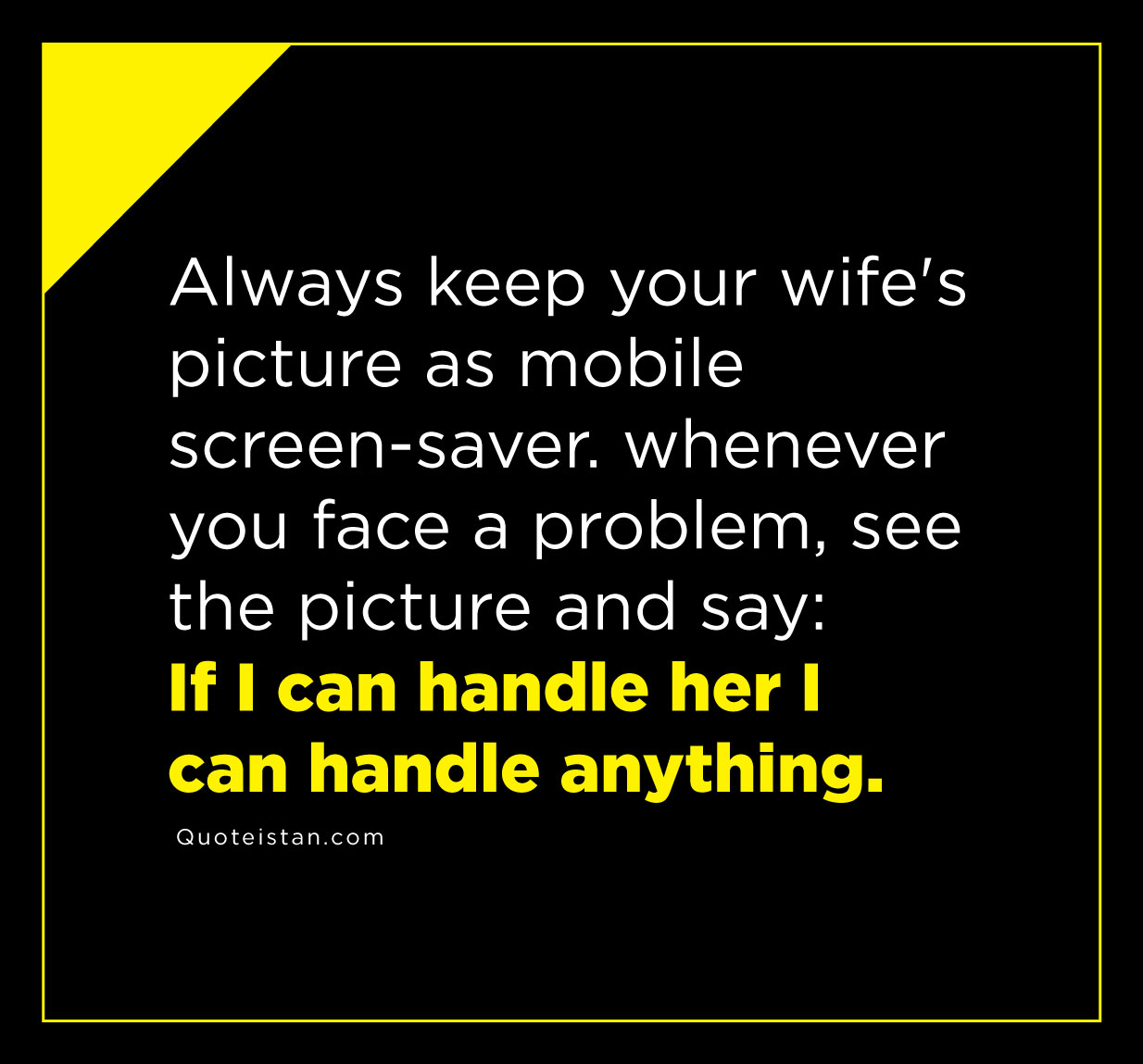 how to handle your wife