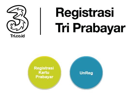 Cara registrasi kartu prabayar TRI baru dan lama.