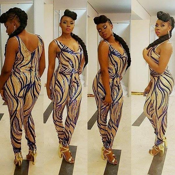 Yemi Alade Dazzles In Stylish Jumpsuit