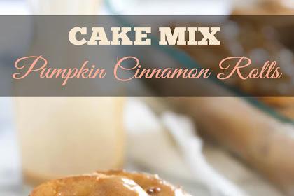 Pumpkin Cake Mix Cinnamon Rolls