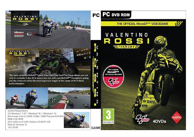 Capa Valentino Rossi MotoGP 16 PC