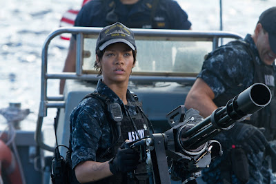 Battleship Movie starring Taylor Kitsch, Alexander Skarsgard, Liam Neeson, Brooklyn Decker and Rihanna.