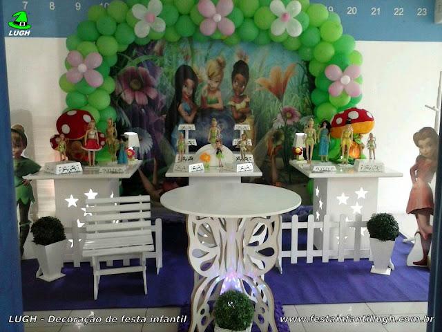 Decoração da Tinker Bell - Festa de aniversário infantil - Provençal simples