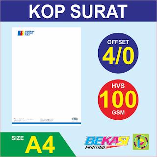 Cetak Kop Surat 4 Warna  HVS 100 GSM