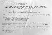 Subiecte educatori Bucuresti 2016 - grad didactic 2