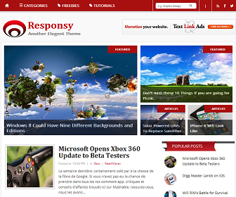 Responsy Blogger Template