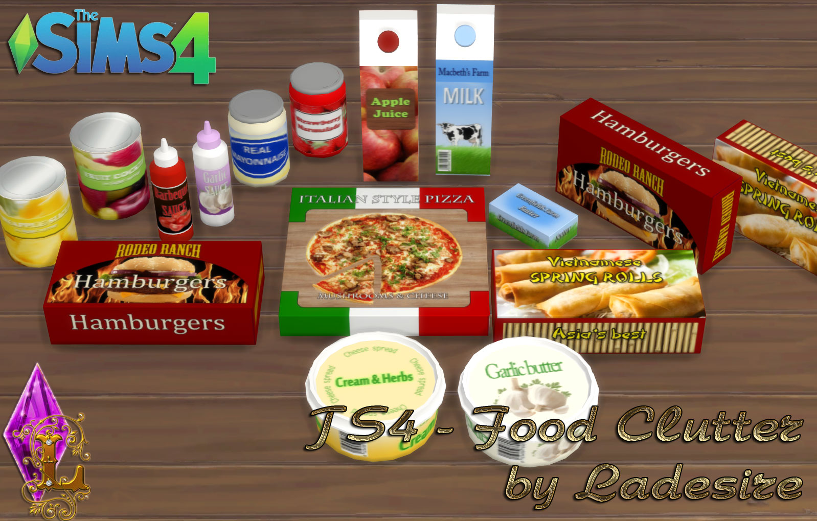 Food Clutter At Ladesire Sims 4 Updates 4 Decofoods