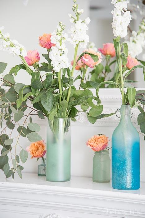aqua bottles painting diy