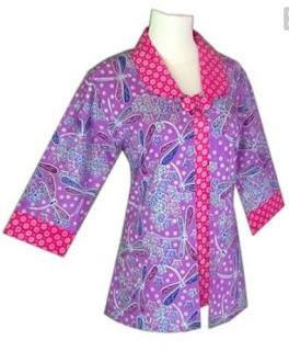 desain batik kombinasi simple