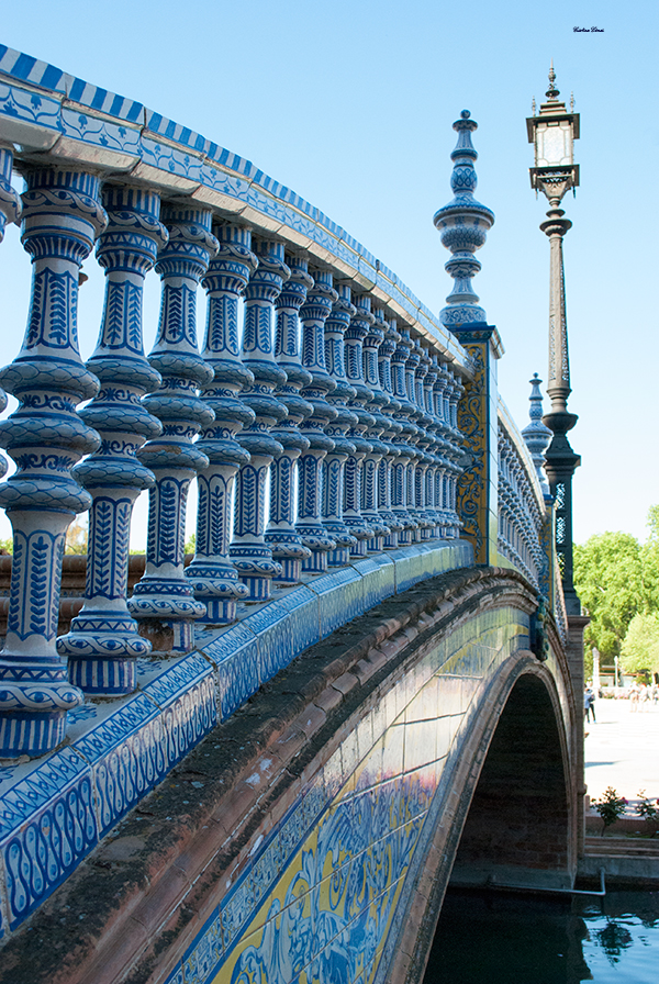 bridge tiles plaza españa seville spain
