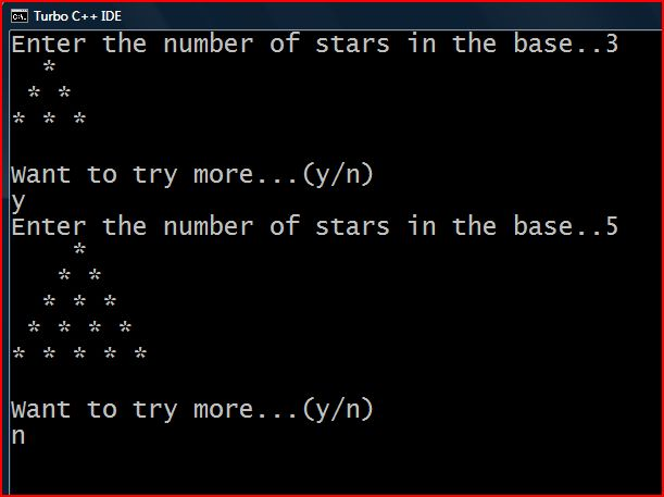 Java Program to Print Inverted Pyramid Pattern of Stars