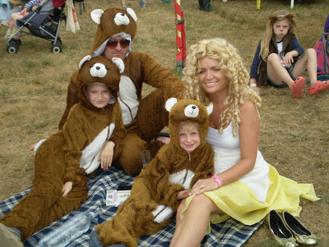 fancy dress goldilocks and three bears camp bestival