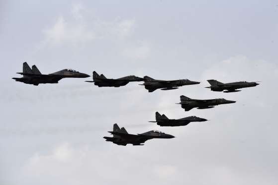 indian airforce power demo in jisalmer rajasthan