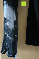 Ärmel: StyleDome Damen Spitze Langarm Kragen Runde Elastische Shirt Tops