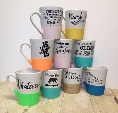 Macee Leigh Customize Glitter Mugs