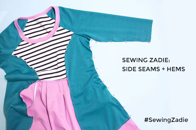 Sewing Zadie - Side seams and hems - Tilly and the Buttons