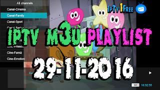 iptv m3u playlist 29-11-2016