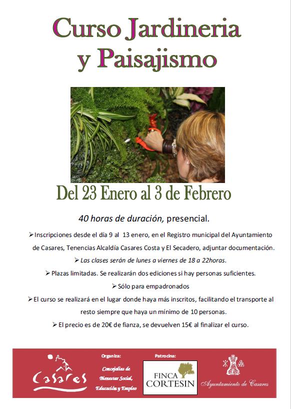 Casares informacion el plan municipal de formaci n for Como aprender jardineria