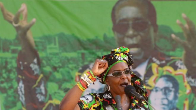 Booing of Zimbabwe's Grace Mugabe lands four in court