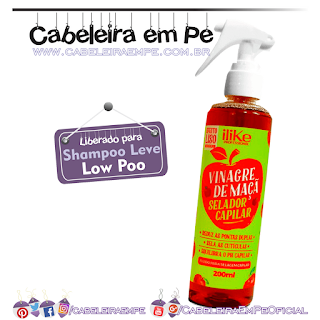 Spray Vinagre de Maça Selador Capilar - ILike (Low Poo)