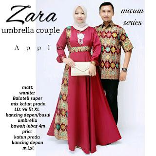 Batik Couple Gamis Zara