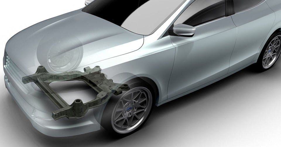 Ford And Magna Create Experimental Carbon Subframe