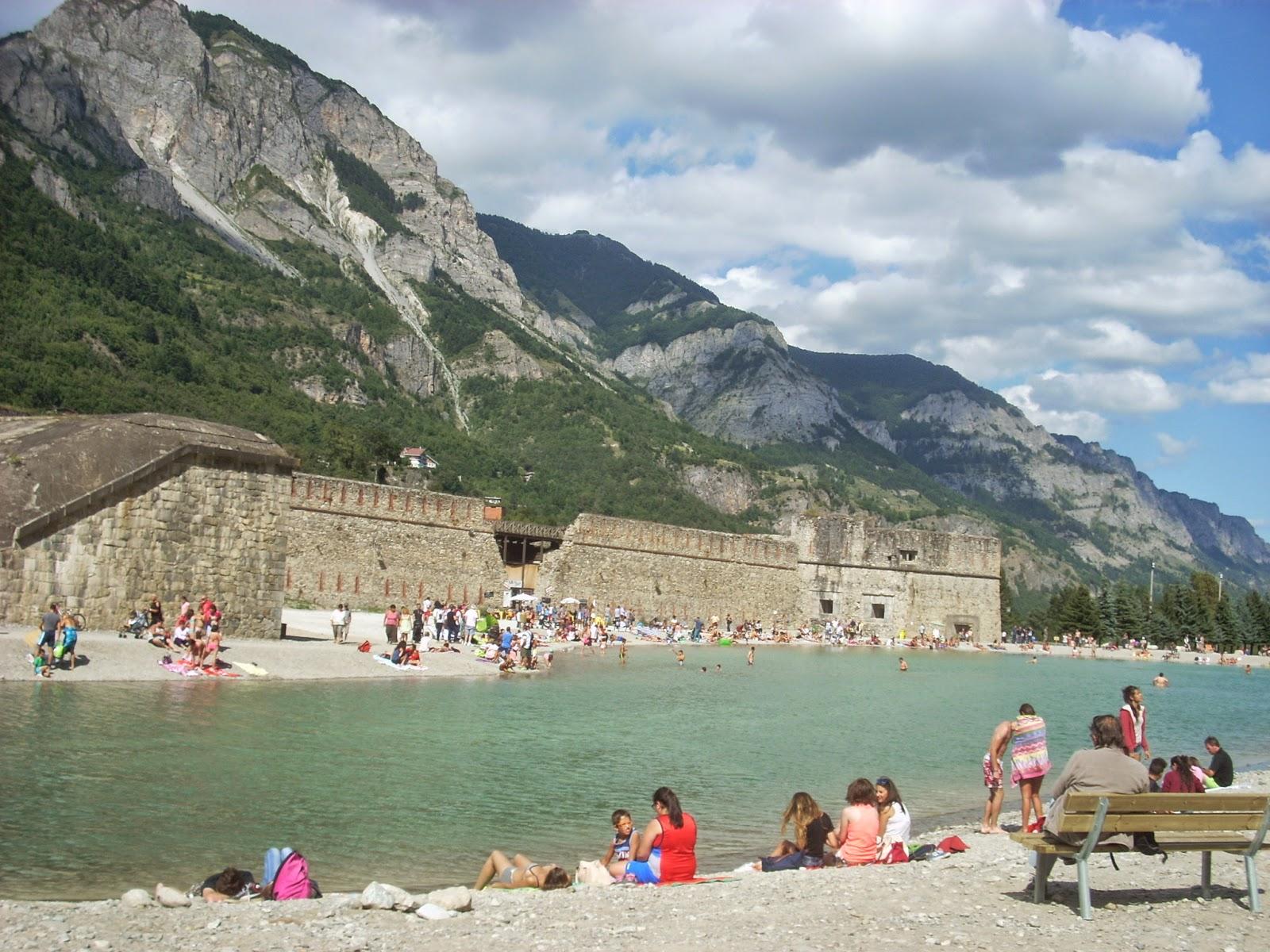 Cuneo e dintorni Lago artificiale  piscina di Vinadio