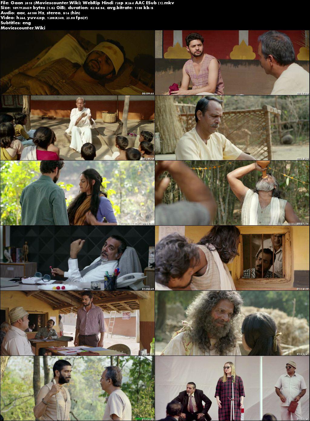 Screen Shots Gaon 2018 Hindi HD 720p