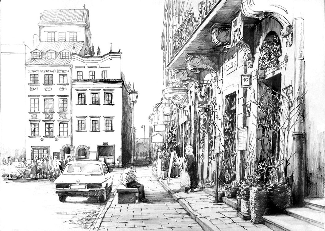 01-Warsaw-Old-Town-Poland-Łukasz-Dębowski-aka-hipiz-Architecture-and-Interior-Design-Drawings-www-designstack-co