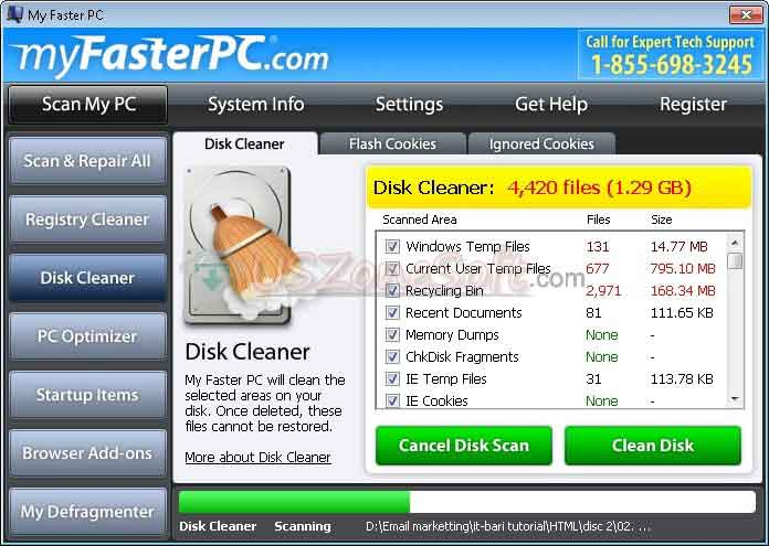 My-Faster-Pc- disk cleaner tools