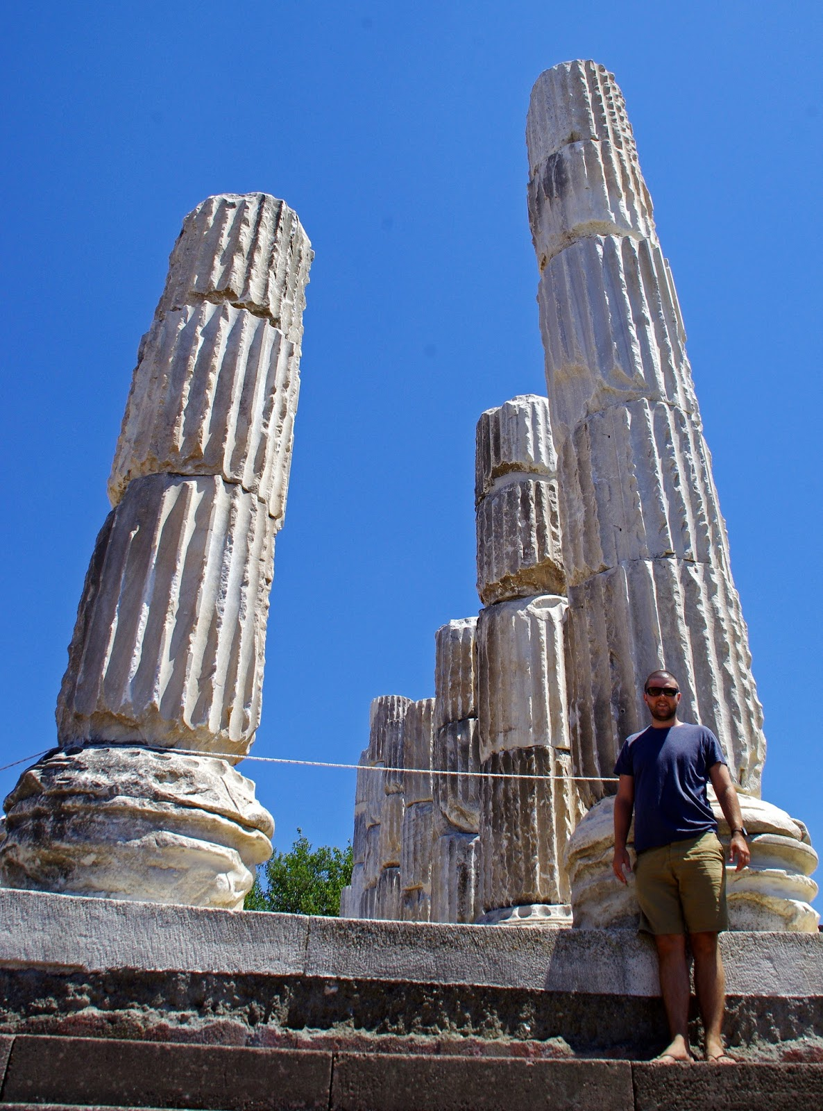Dan standing in front of Apollon Symintheion Columns