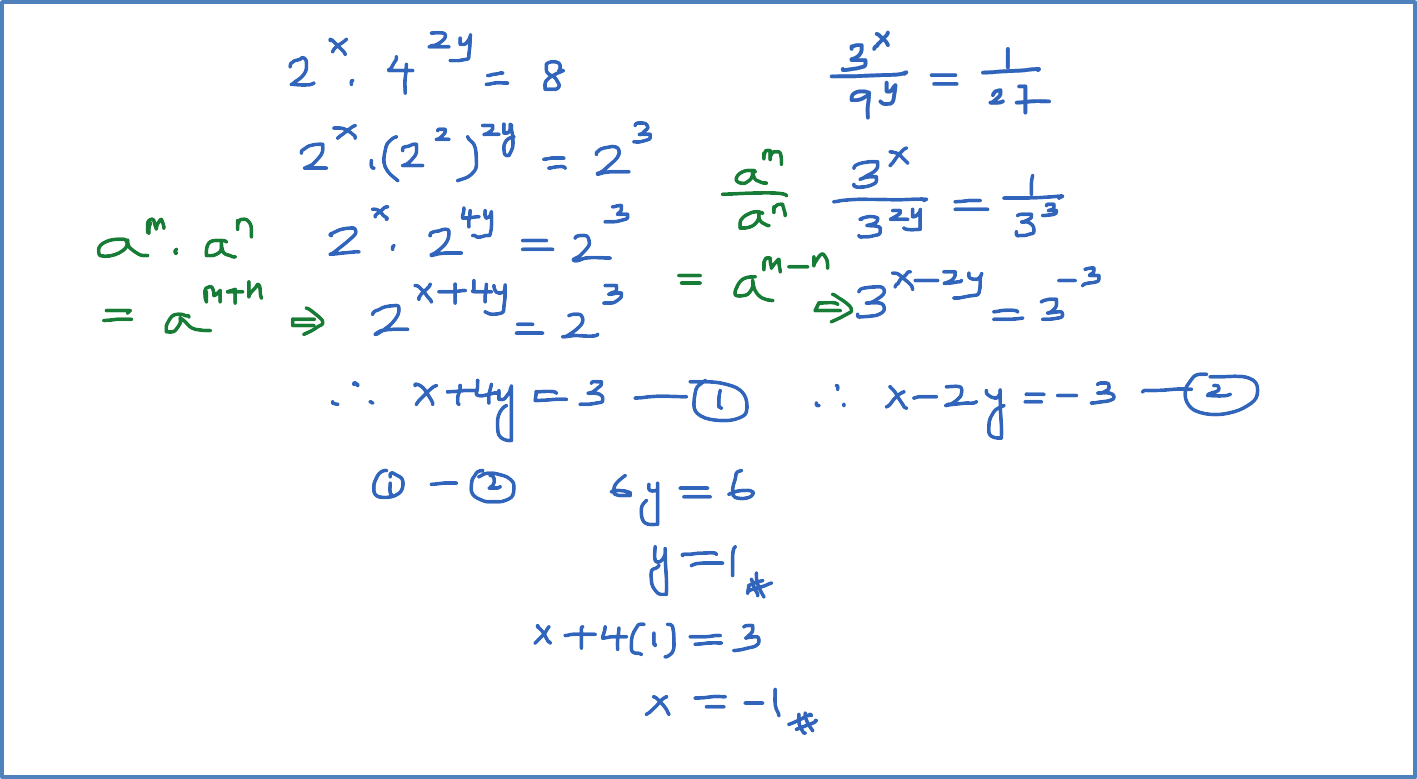 Solving Simultaneous Equations By Substitution Examples