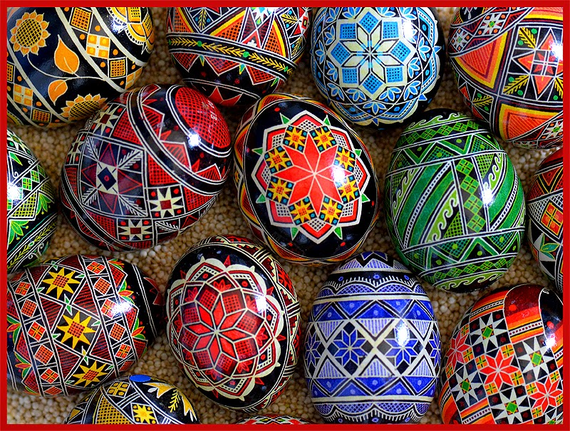 colorful easter egg design decoration with patterns
