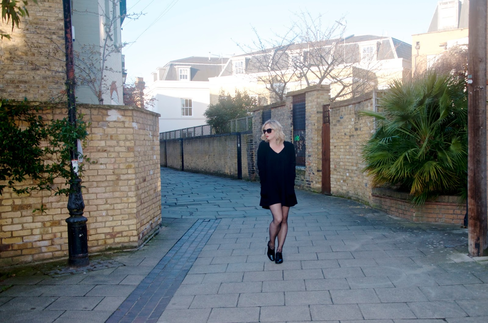 Walking down a lane in Putney