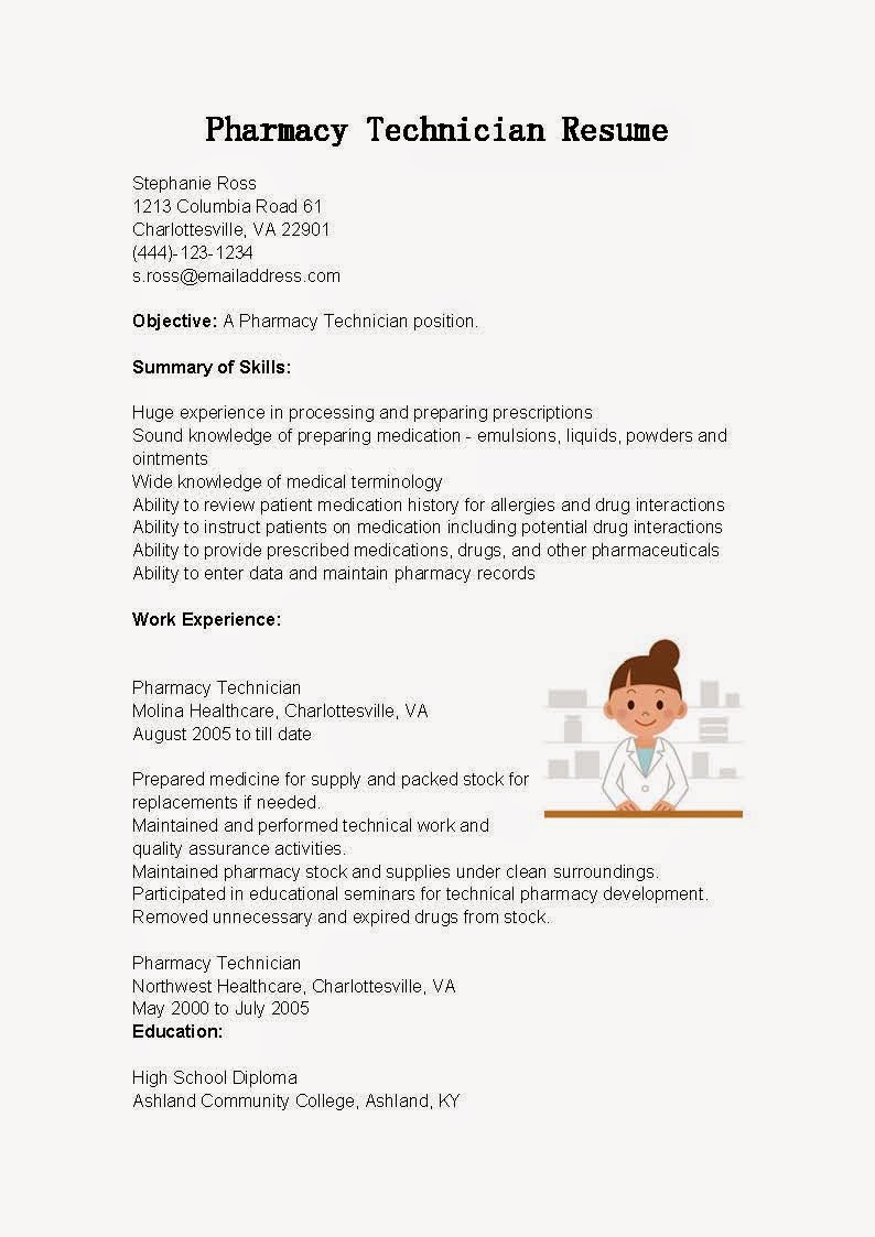 pharmacy tech resume templates template