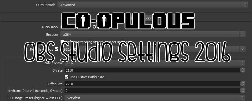 Co-opulous OBS Settings – Co-opulous