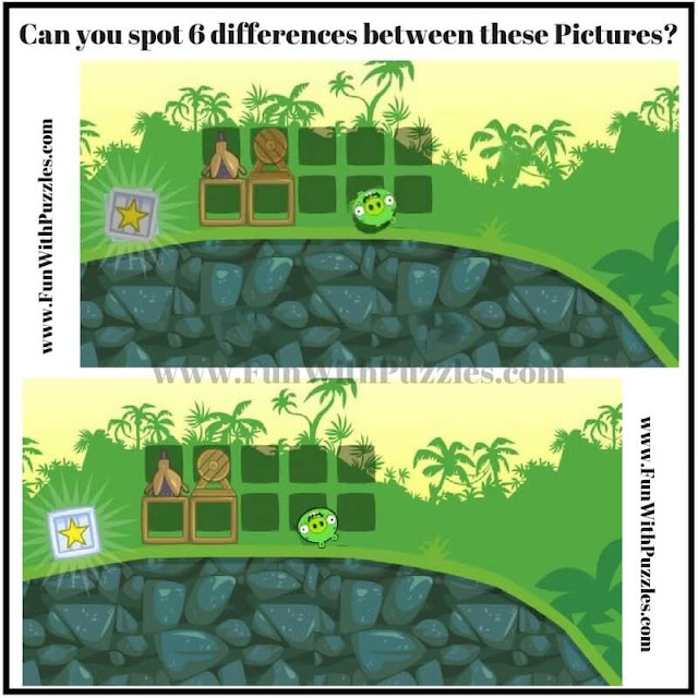 Picture Puzzle in your challenge is to find 6 differences